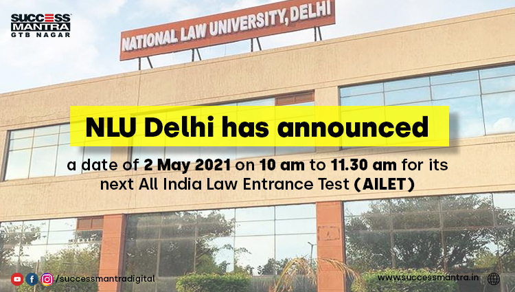 AILET 2021 Exam on 2nd May 2021