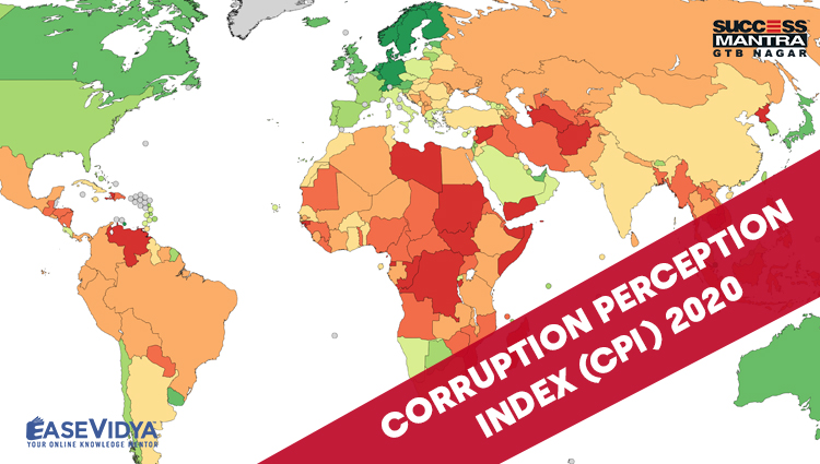 CORRUPTION PERCEPTION INDEX 2020, Read daily Article Editorials only on Success Mantra Blog