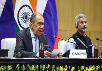 MEETING OF INDIA-RUSSIA FOREIGN MINISTERS