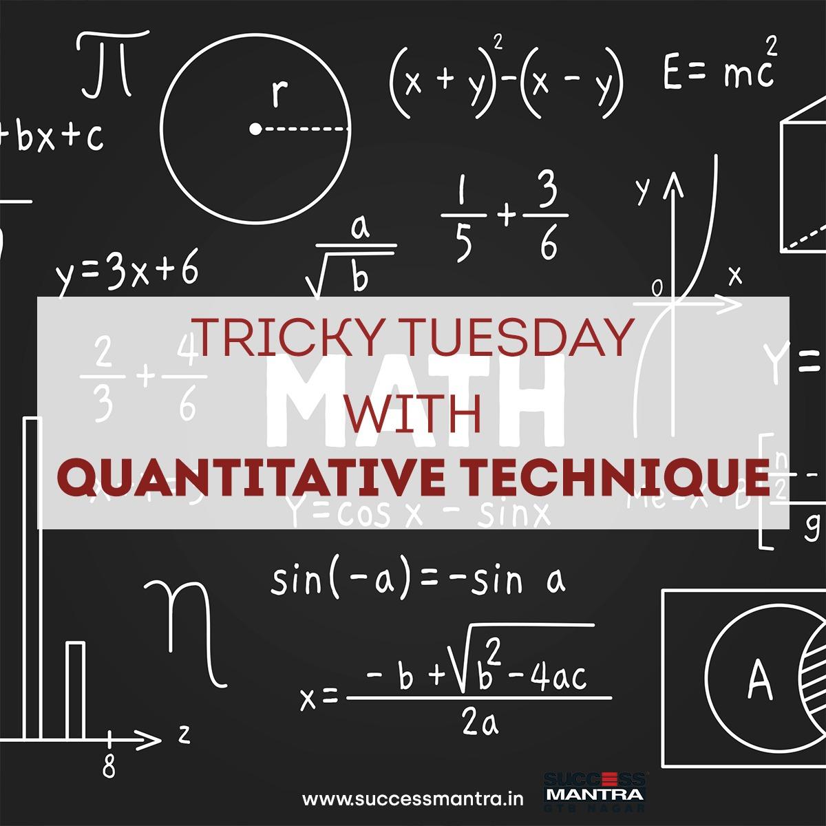 Questions On Quantitative Techniques SMQTQ033