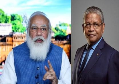 VIRTUAL MEET B/W LEADERS OF INDIA & SEYCHELLES