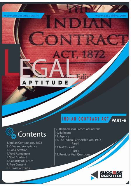 Legal Aptitude Indian Contract Act
