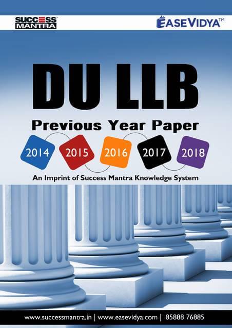 DU LLB Previous Paper
